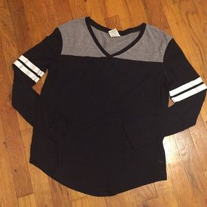 Black Varsity Long Sleeve